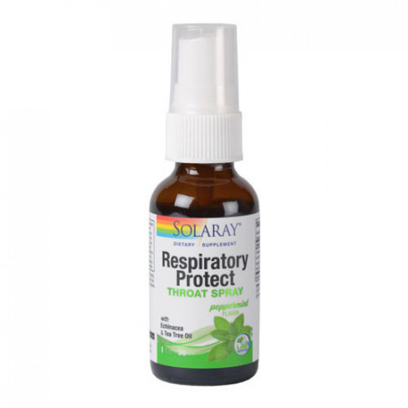 Respiratory Protect Throat Spray, 30ml, Solaray