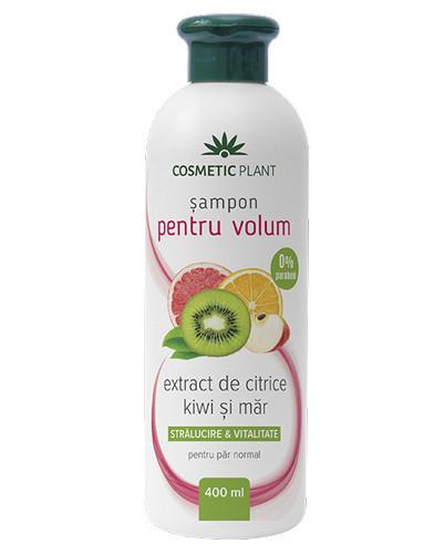 Sampon pentru volum cu extract de citrice, kiwi&mar, 400ml, Cosmetic Plant