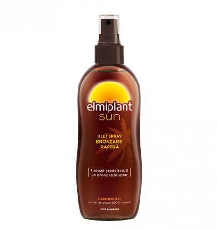 Sun ulei spray bronzare rapida, SPF0, 150ml, Elmiplant Plaja