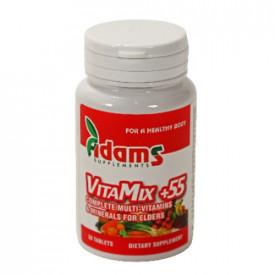 Complex VitaMix+55 (multivitamin&mineral), 30cps, Adams Vision