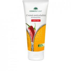 Cremă anticelulită termoactivă cu extract de ardei iute&Cafeisilan C2, 200 ml, Cosmetic Plant