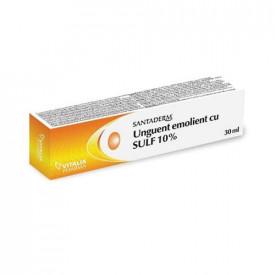 Santaderm, unguent cu Sulf 10%, 30ml, Vitalia Pharma