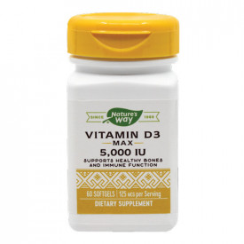 Vitamin D3 5000UI, 60cps, Nature's Way