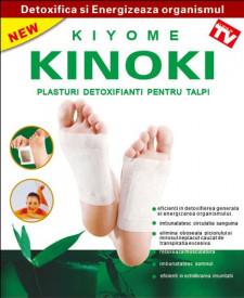 Plasturi detoxifianti pentru talpi KINOKY, 6X8cm, 10buc, Naturalia Diet