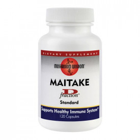 Maitake D-fraction, 120cps, Mushroom Wisdom
