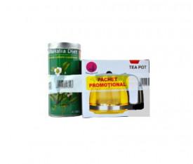 Ceai Verde superior, 100gr+ceainic 1250ml, Naturalia Diet