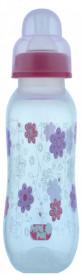 Biberon polipropilena usor de tinut decorat, 250 ml, Primii Pasi