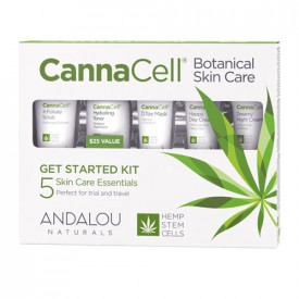 CannaCell Botanical Skin Care Get Started Kit, Andalou