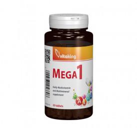 Multivitamina cu minerale si folat Mega 1, 30cps, Vitaking