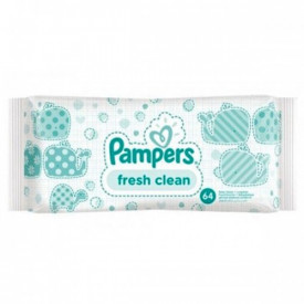 Servetele umede Pampers(fresh clean), 64buc, Procter&Gamble