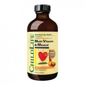 Multi Vitamin & Mineral(gust de portocale/mango), 237ml, ChildLife