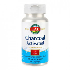 Charcoal Activated (Carbune medicinal) 280mg, 50cps, Kal