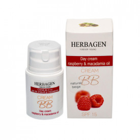 Crema BB zi cu ulei zmeura&macadamia, 50gr, Herbagen