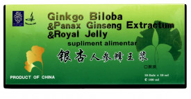 Ginkgo Biloba, Ginseng & Royal Jelly, 10fl*10ml, Naturalia Diet