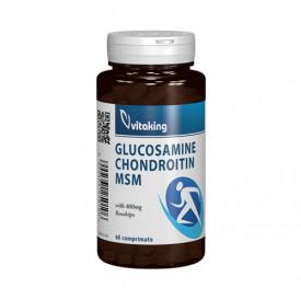 Glucozamina, condroitina, MSM, 60cps, Vitaking