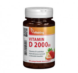 Vitamina D 2000UI, 90cps masticabile, Vitaking