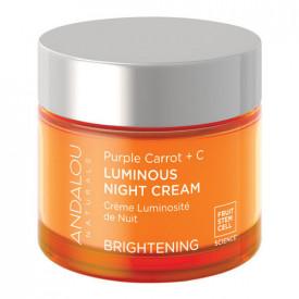 Purple Carrot + C Luminous Night Cream, 50g, Andalou