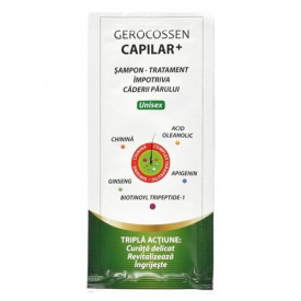 Capilar+ plic sampon tratament impotriva caderii parului, plic 15 ml, Gerocossen