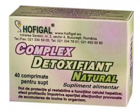 Complex detoxifiant natural, 40cps, Hofigal