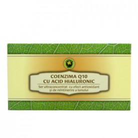 Set fiole Coenzima Q10 cu Acid Hialuronic, 12buc, Hypericum