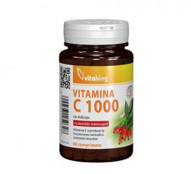 Vitamina C 1000 mg cu absorbtie lenta, 60cps, Vitaking