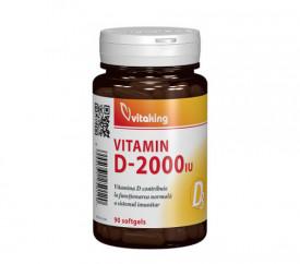 Vitamina D 2000UI, 90cps moi, Vitaking