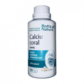 Calciu coral Ionic, 90cps, Rotta Natura