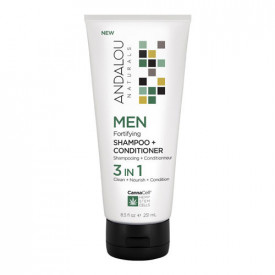 MEN Fortifying Shampoo + Conditioner 3 IN 1, 251ml, Andalou
