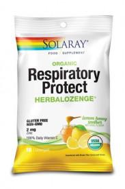 Respiratory Protect HerbaLozenge Lemon Honey Soother, 18 dropsuri pentru gât, Solaray