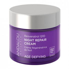 Resveratrol Q10 Night Repair Cream, 50g, Andalou