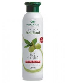 Sampon fortifiant cu nuc&urzica, 250ml, Cosmetic Plant