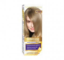 Vopsea de par permanenta Intensse Color 10.2 Blond Inchis, 50 ml, Gerocossen