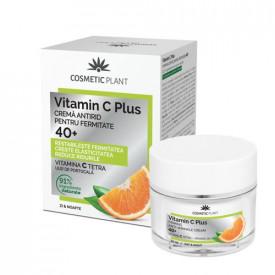 Cremă antirid pentru fermitate 40+ Vitamin C Plus, 50ml, Cosmetic Plant