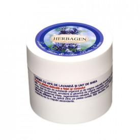 Crema cu apa de lavanda, 150g, Herbagen