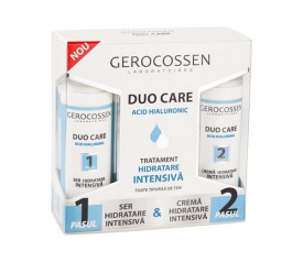 Duo Care tratament hidratare intensiv, crema 30 ml + ser 30 ml, Gerocossen