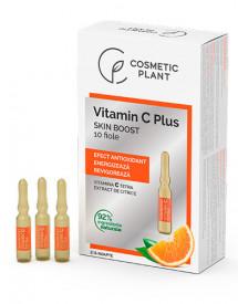 Fiole Skin Boost cu Vitamina C Tetra, 10buc/2ml, Cosmetic Plant