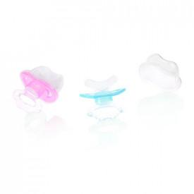 Suzeta dentitie silicon, cu capac, 3L+, Primii Pasi