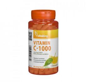 Vitamina C 1000 mg cu bioflavonoide, acerola si macese ,90cps, Vitaking