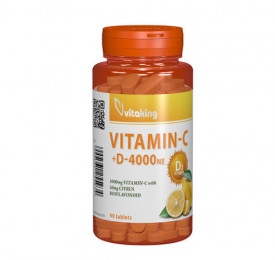 Vitamina C + D cu bioflavonoide, 90cps, Vitaking