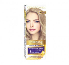 Vopsea de par permanenta Intensse Color 10.3 Blond Natural, 50 ml, Gerocossen