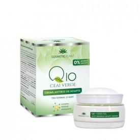 Cremă antirid de noapte Q10, ceai verde&complex mineral energizant, 50ml, Cosmetic Plant