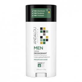 MEN Herbal Deodorant - MOUNTAIN SAGE, 75g, Andalou