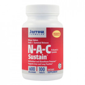N-A-C Sustain 600mg, 100tab eliberare prelungita (Bilayer Sustain), Jarrow Formulas
