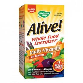 Alive!(fără fier adăugat), 30cps, Nature's Way