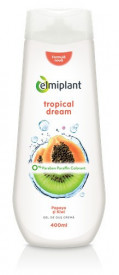 Gel de dus crema Tropical Dream(papaya&kiwi), 400ml, Elmiplant
