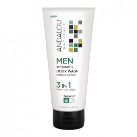 MEN Invigorating Body Wash 3 IN 1, 251ml, Andalou