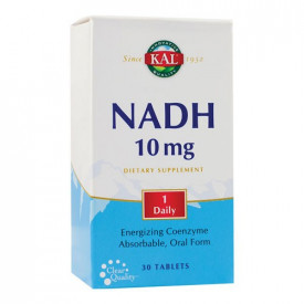 NADH 10mg, 30 tab. filmate gastrorezistente (3 blistere cu 10tablete), Kal