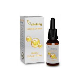Picaturi de Vitamina K2+K1+D3 2000UI, 10ml (320 picaturi), Vitaking