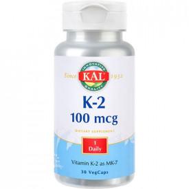 Vitamin K-2 100mcg, 30cps, Kal