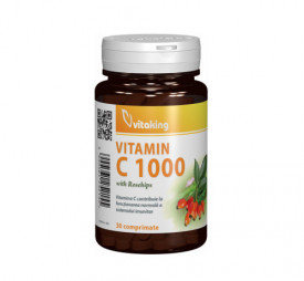 Vitamina C 1000mg cu macese, 30cps, Vitaking